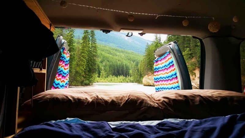 Vanlife isn't all that bad when you have nature to keep you company