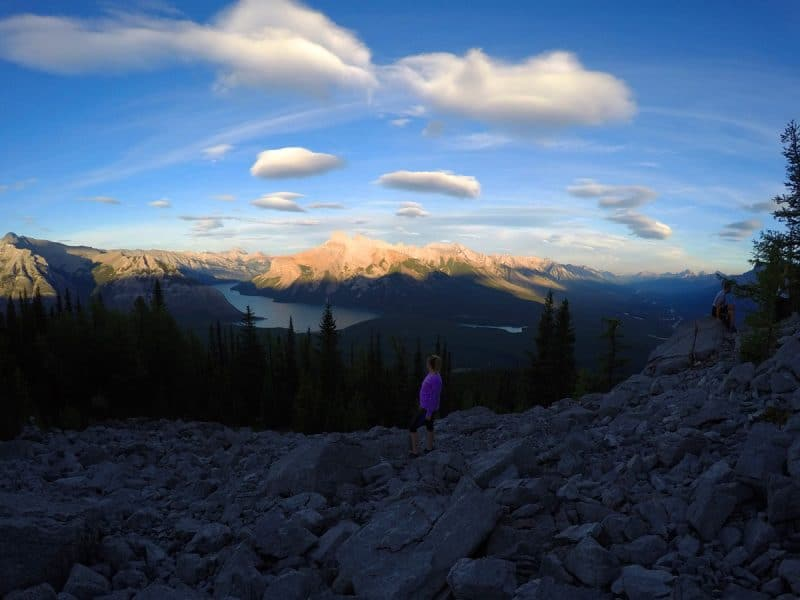 Standing at C-Level Cirque Trail summit