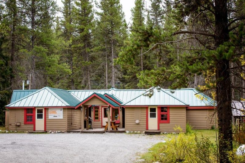 Castle mountain wilderness hostel in Banff National Park, Alberta