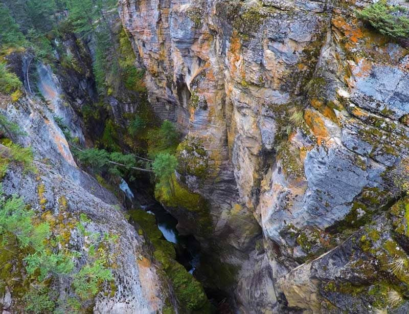 View of Maligne Canyon in Jasper National Park