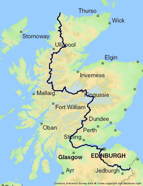 Scottish National Trail map