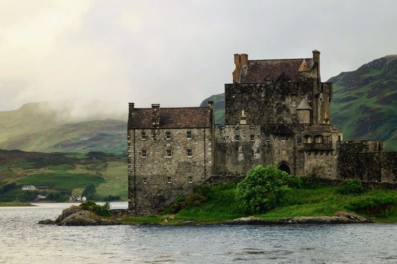 An old castle near the Scottish National Trail