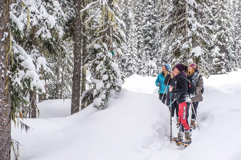 Snowshoeing at Big White Ski Resort in Kelowna, Canada