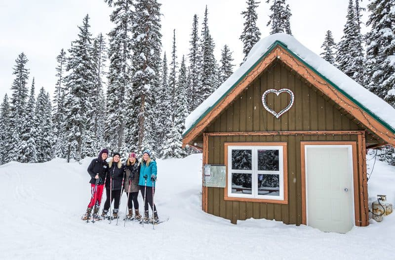 Snowshoeing at Big White Ski Resort in Kelowna, Canada