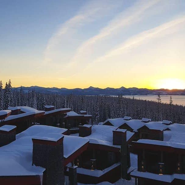 Sunrise over Happy Valley at Big White Ski Resort, Kelowna, British Columbia