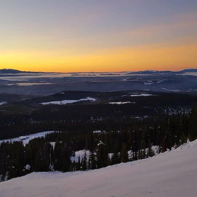 Sunrise at Big White Ski Resort, Kelowna, British Columbia