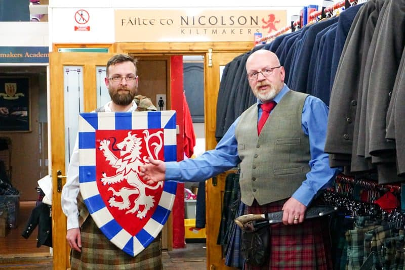 Try on a kilt during this unique Scottish experience