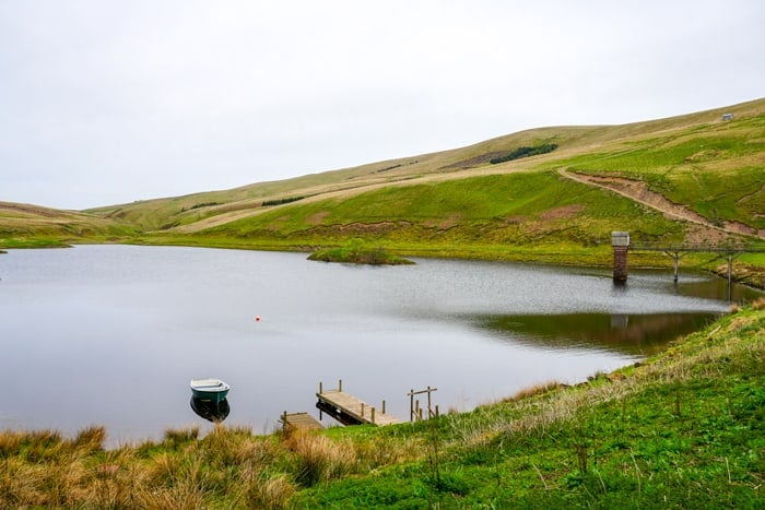 The North Esk Reservoir in the Pentland Hills