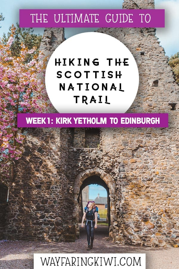 Save 'Hiking the Scottish National Trail Week 1' to Pinterest for later