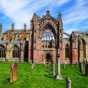 Melrose Abbey along the Scottish National Trail