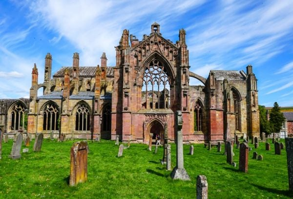 Melrose Abbey along the Scottish National Trail
