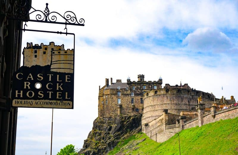 Castle Rock hostel is right next to Edinburgh Castle in Old Town