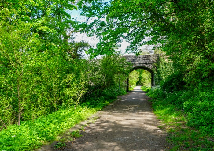 Water of Leith walkway takes you from Balerno to Slateford