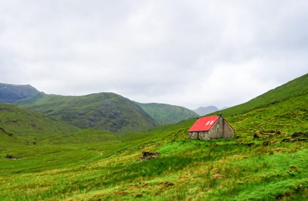 Camban bothy on the Cape Wrath Trail is situated in some of the most beautiful scenery in Scotland