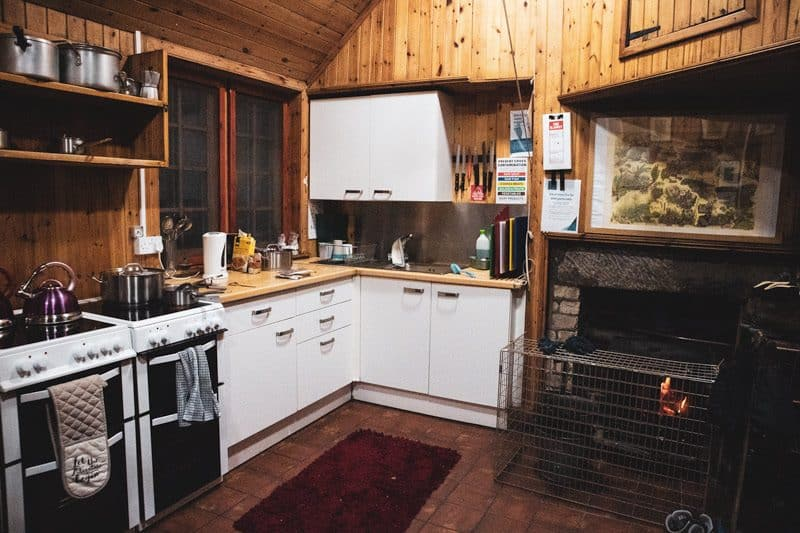 Loch Ossian Hostel kitchen
