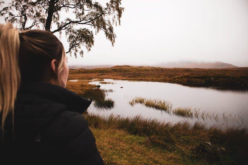 Loch Ossian Hostel in the Scottish Highlands