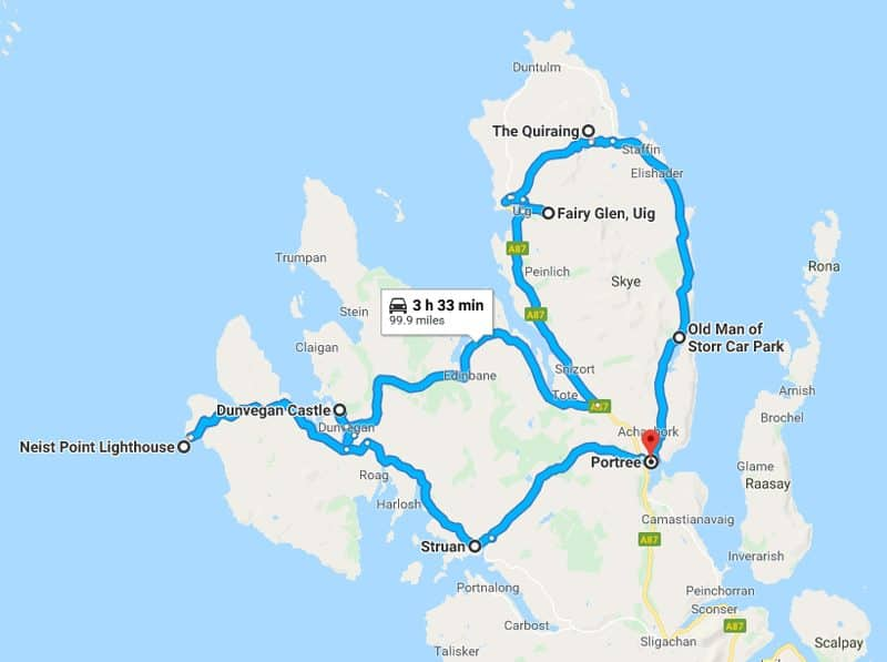 Isle Of Skye 2 Day Itinerary day 1