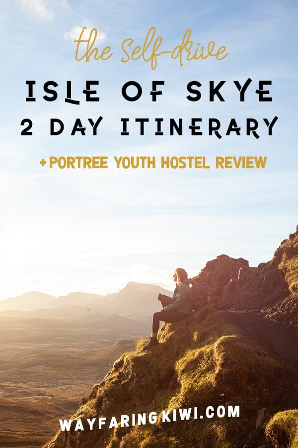 Isle of Skye 2 day itinerary self-drive pin
