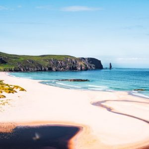 Love canvas print Sandwood Bay, Cape Wrath Trail and Scottish National Trail