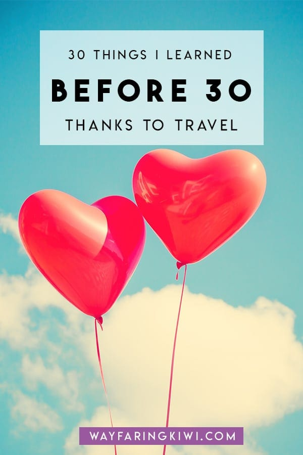 30 things to learn before turning 30! Don't forget to save this to your travel board so you can find it later!