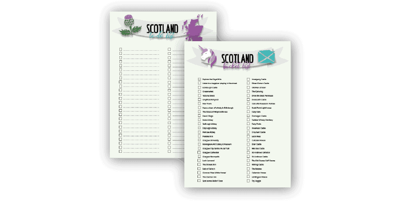 Free printable Scotland travel planner and checklist